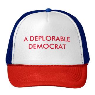 A DEPLORABLE DEMOCRAT for Trump - eZaZZleMan.com Trucker Hat