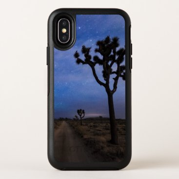 A Desert Road and Joshua Trees at Night OtterBox Symmetry iPhone X Case