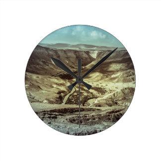 A desert storm wall clock