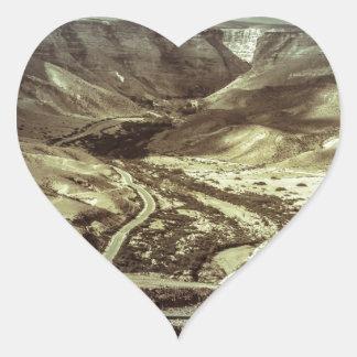 A desert storm heart sticker