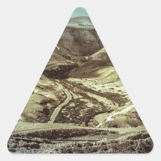 A desert storm triangle sticker