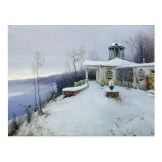 A deserted manor house postcard