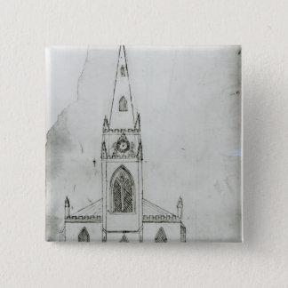 A Design for a Church, 1821 Button
