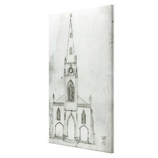 A Design for a Church, 1821 Canvas Print