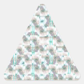 A design in mint green triangle sticker