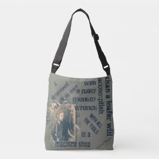 A determined soul crossbody bag