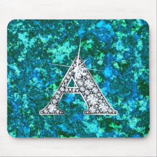 """A """"Diamond Bling"""" Blue Marble Mousepad"""