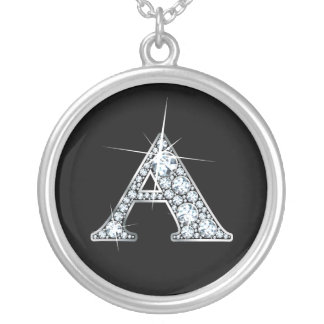 """""""A"""" Diamond Bling Necklace"""