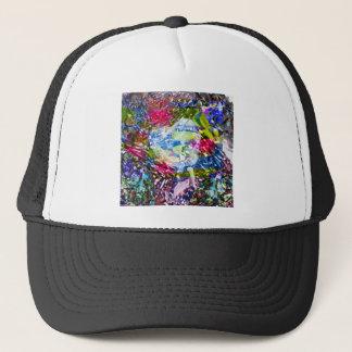 A diamond heart shines on the pond trucker hat