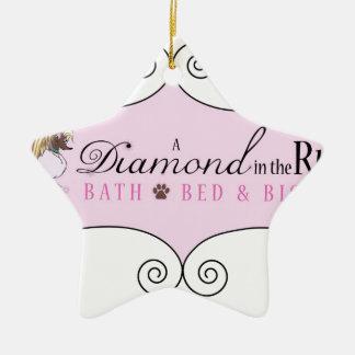 A DIamond In The Ruff Ceramic Ornament