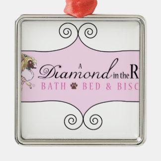 A DIamond In The Ruff Metal Ornament