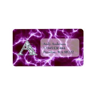 "A ""Diamond"" Monogram on Lightning Bolt Label"