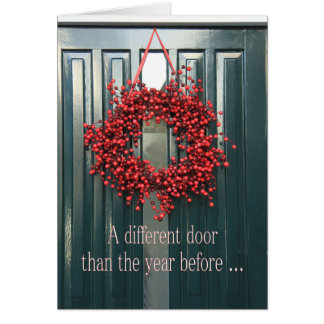 A Different door - New Address Holiday card