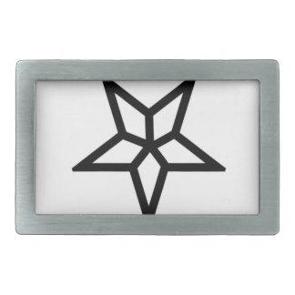 A Different Inverted Pentagram Rectangular Belt Buckle