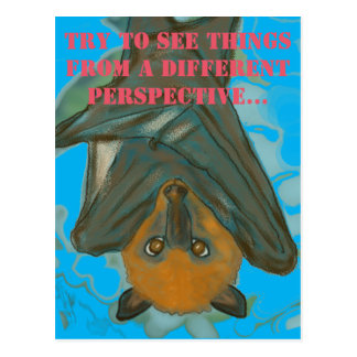 A different perspective -- Flying Fox Postcard