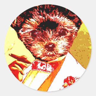a differnt dog person classic round sticker