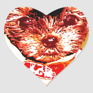 a differnt dog person heart sticker
