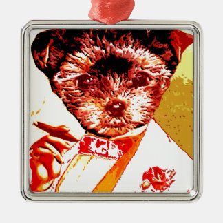 a differnt dog person metal ornament