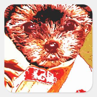 a differnt dog person square sticker