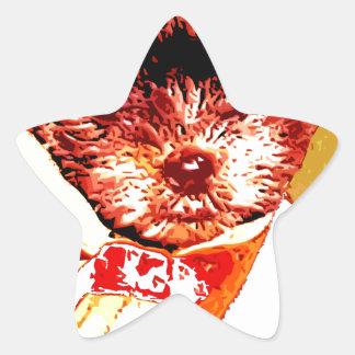 a differnt dog person star sticker