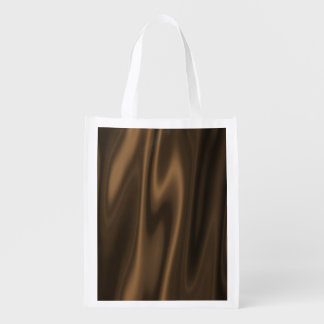 A digital art design to look like Chocolate brown Grocery Bags