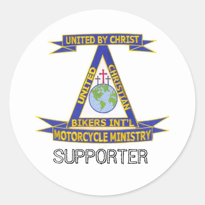 a_Digital_Patch_1 copy, SUPPORTER Classic Round Sticker