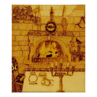 A Dining Room In A Castle Poster