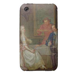 A Dinner Conversation (A Man and Woman Drinking at iPhone 3 Case