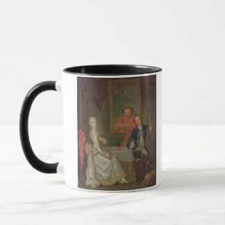 A Dinner Conversation (A Man and Woman Drinking at Mug