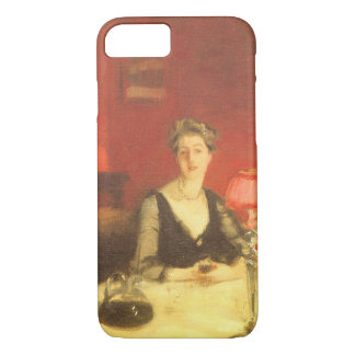 A Dinner Table at Night by Sargent, Victorian Art iPhone 7 Case