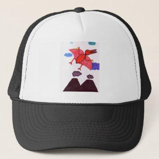 A dinosaur trucker hat