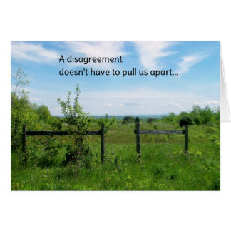 A Disagreement...Relationships Greeting Card