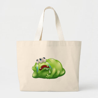 A disappointed monster jumbo tote bag