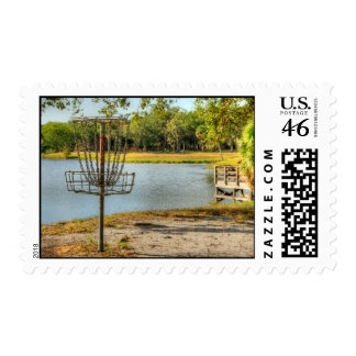 A Disc Golfer's View Postage Stamp