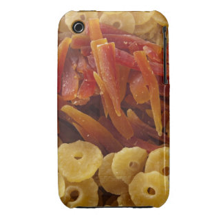 a display of preserved (candied) pineapple and iPhone 3 cover