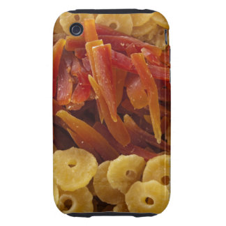 a display of preserved (candied) pineapple and iPhone 3 tough case