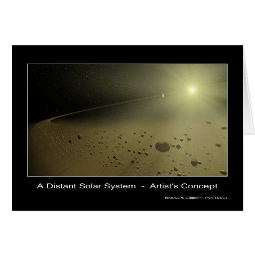 A Distant Solar System – Artist's concept - NASA Cards