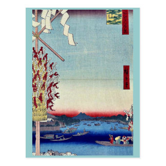 A distant view of Asakusa by Andō,Hiroshige Postcards
