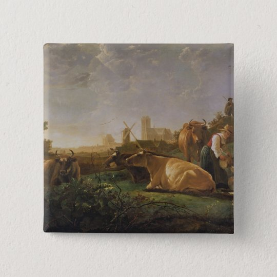 A Distant View of Dordrecht Pinback Button