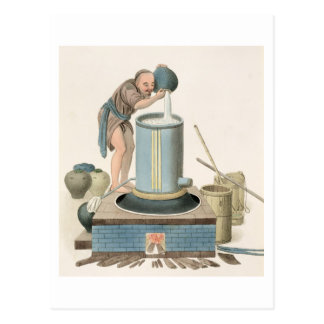 A Distiller, plate 24 from 'The Costume of China', Postcards