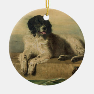 A Distinguished Member of the Humane Society Double-Sided Ceramic Round Christmas Ornament