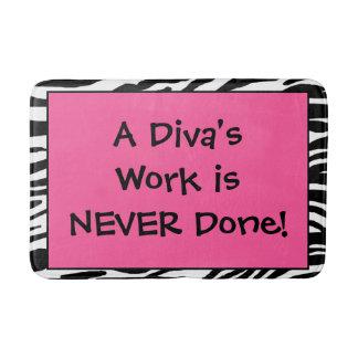 """A Diva's Work is NEVER Done!"" Bath Mat"