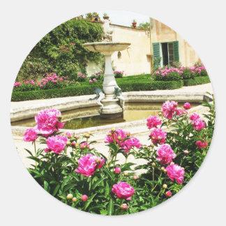 A Divine Rose Garden Picture Classic Round Sticker