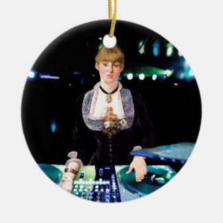 A DJ at the Folies-Bergère Ceramic Ornament