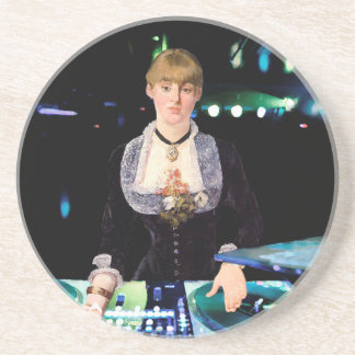 A DJ at the Folies-Bergère Drink Coaster