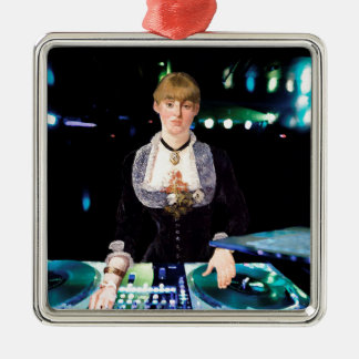 A DJ at the Folies-Bergère Metal Ornament
