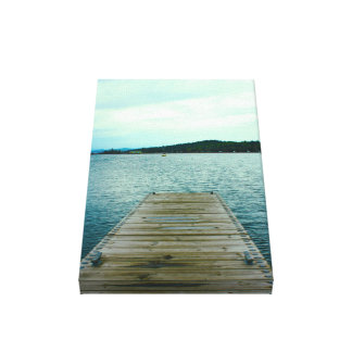 A dock on Lake Superior in Grand Marais, Minnesota Canvas Print