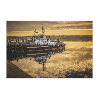A Docked Pilot Boat at Sunrise Halifax, NS Canvas Print