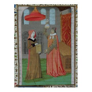 A doctor examining St. Elizabeth's urine Postcard
