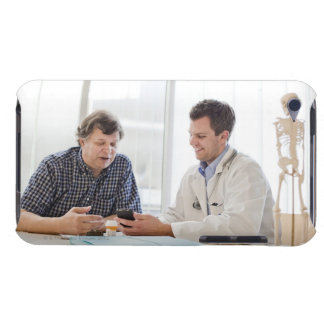 A doctor meeting with a patient and talking and barely there iPod case
